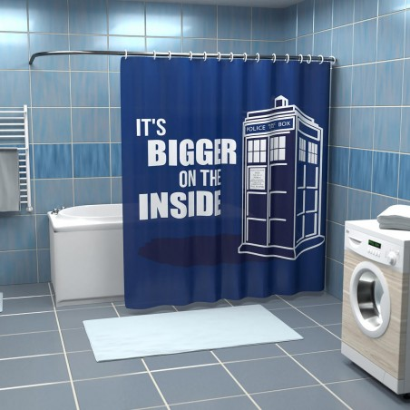 Rideau de douche Doctor Who Tardis Bigger Inside