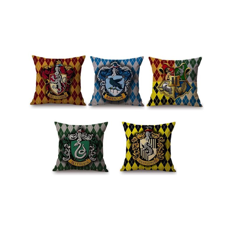 Taie D Oreiller Coussin Harry Potter Gryffondor Serpentard