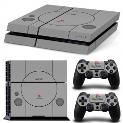 Sticker Console Playstation 4 Retro PS1 design