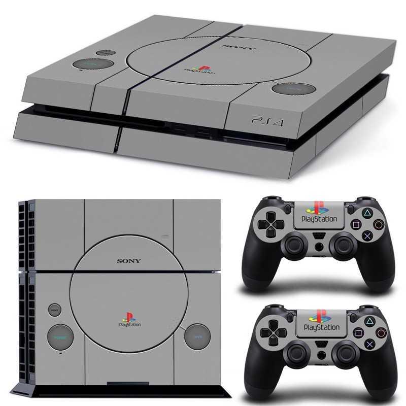 Sticker Console Playstation 4 Retro PS1 design