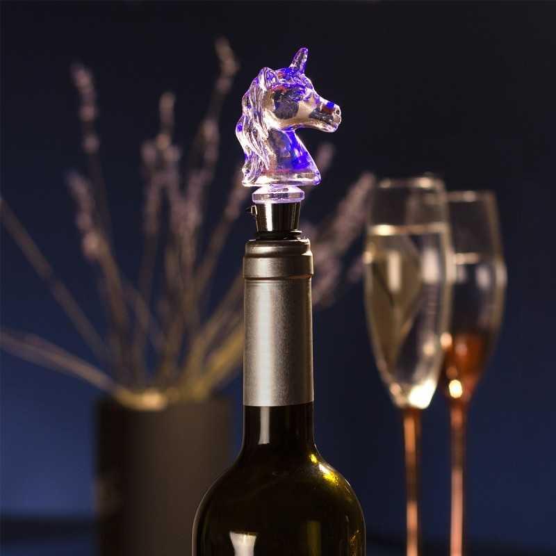 Bouchon de bouteille Licorne lumineux