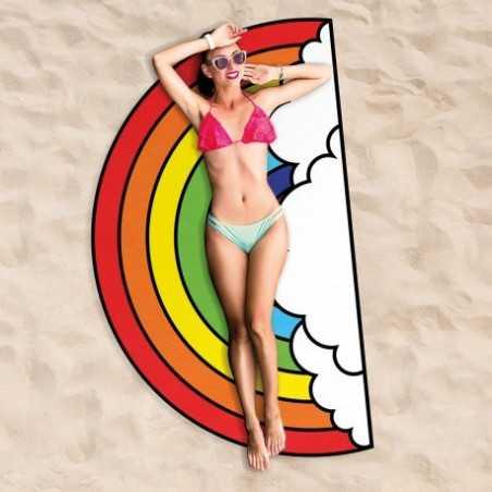 Serviette de plage maxi arc-en-ciel