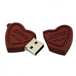 Clé usb Coeur Chocolat