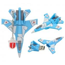 Clé usb Avion de Chasse bleu