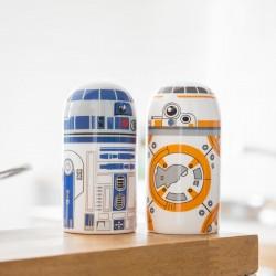 Set Salière Poivrière R2D2 et BB-8 Star Wars