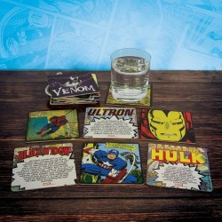 4 dessous de verres Superman action comics