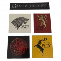 Magnets Game Of Thrones Maisons