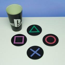 4 dessous de verres Playstation boutons