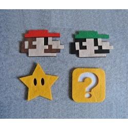 8 dessous de verres feutres Retro Mario