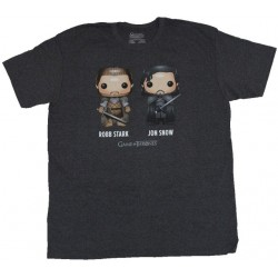 T-shirt Game Of Thrones Robb Stark Jon Snow Funko Pop