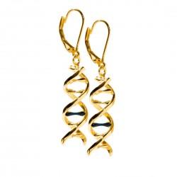 Boucles d'oreilles ADN plaquées or