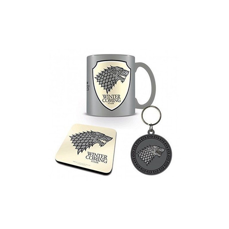 Set Game Of Thrones Stark Mug pote-clés sous verres