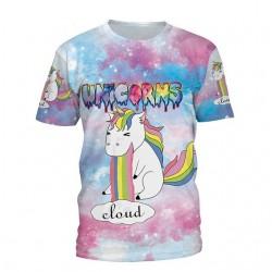 T-Shirt Licorne Vomi Arc-en-ciel