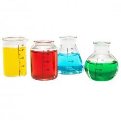 Set 4 verres à shot laboratoire