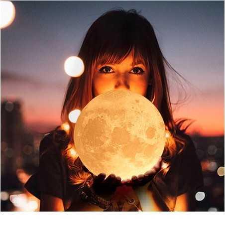 Lampe veilleuse Lune GEANTE Multicolore