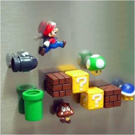 Lot 10 Aimants Frigo Super Mario 3D