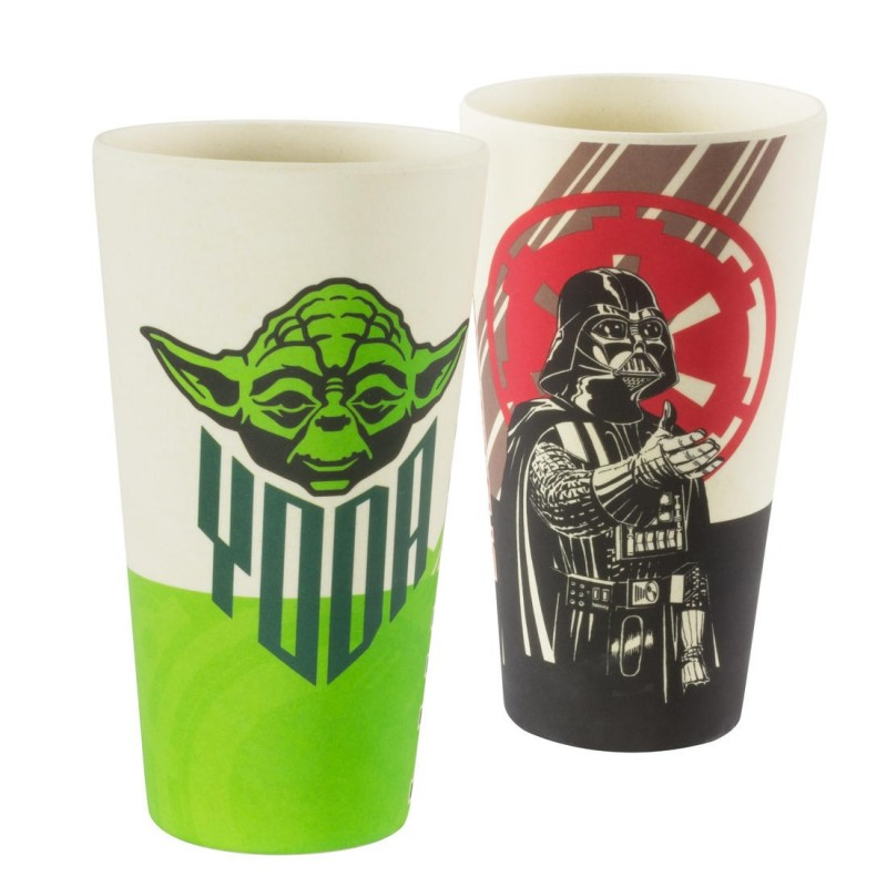 Lot de Verres en Bambou Star Wars