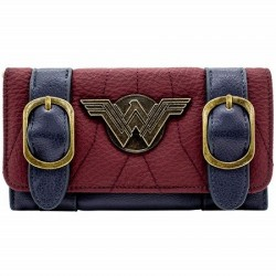 Portefeuille Wonder Woman Badge Sangle Argenté