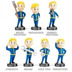 Lot 7 Figurines Fallout 4 Bobblehead Vault Boy
