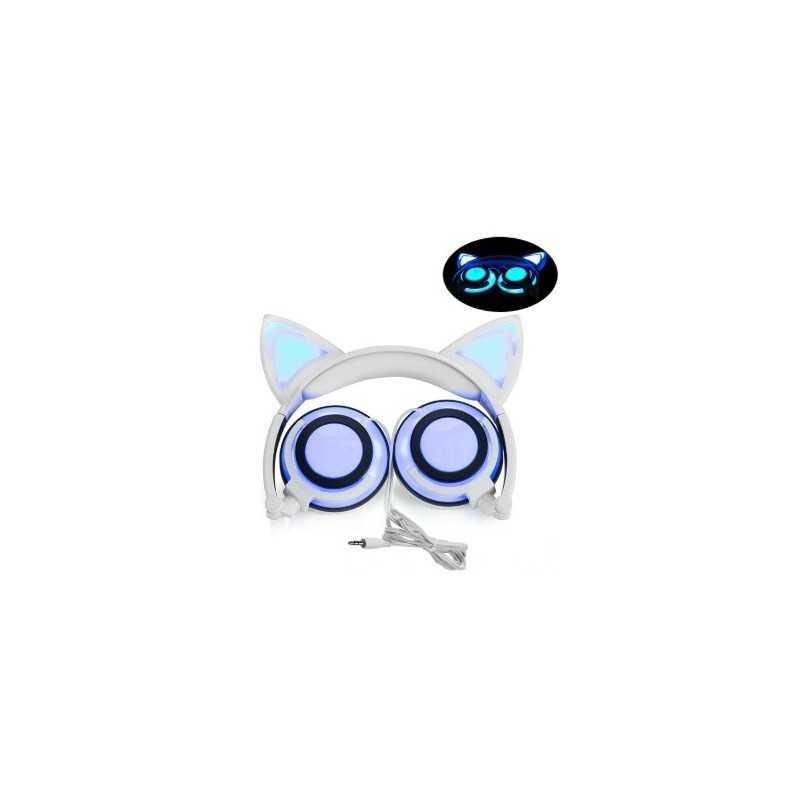 Casque audio à LED oreilles de chat