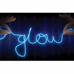 Fil Neon Bleu Lumineux Customizable