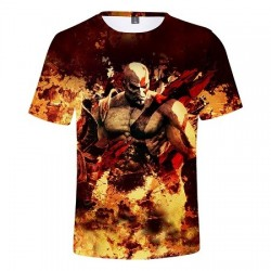 T-Shirt God Of War Kratos Enflammé