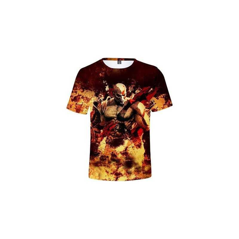 T-Shirt God Of War Kratos Enflammé
