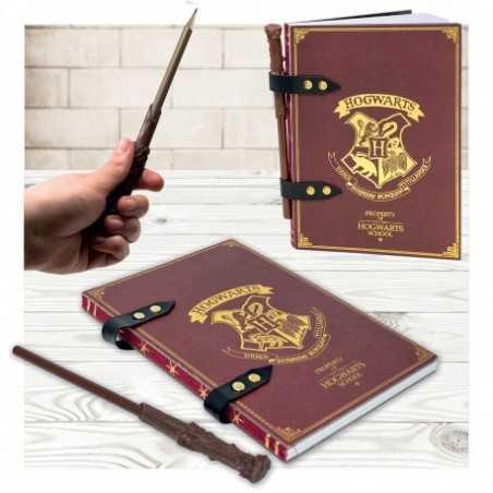 Set Carnet de Notes Harry Potter et Stylo Baguette