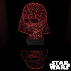 Star Wars lampe Dark Vador 3D
